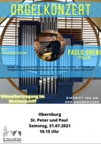 Orgelkonzert mit Paolo Oreni